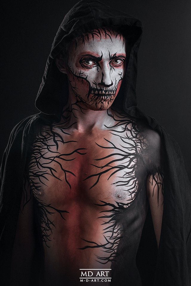 Body painting Halloween