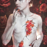 Body painting Fleurs