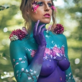 Fleurs body painting