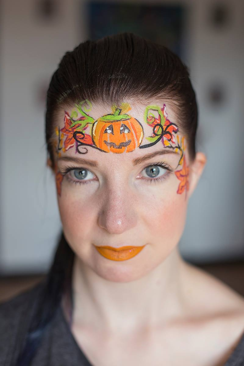 halloween, maquillage, enfant, grimage