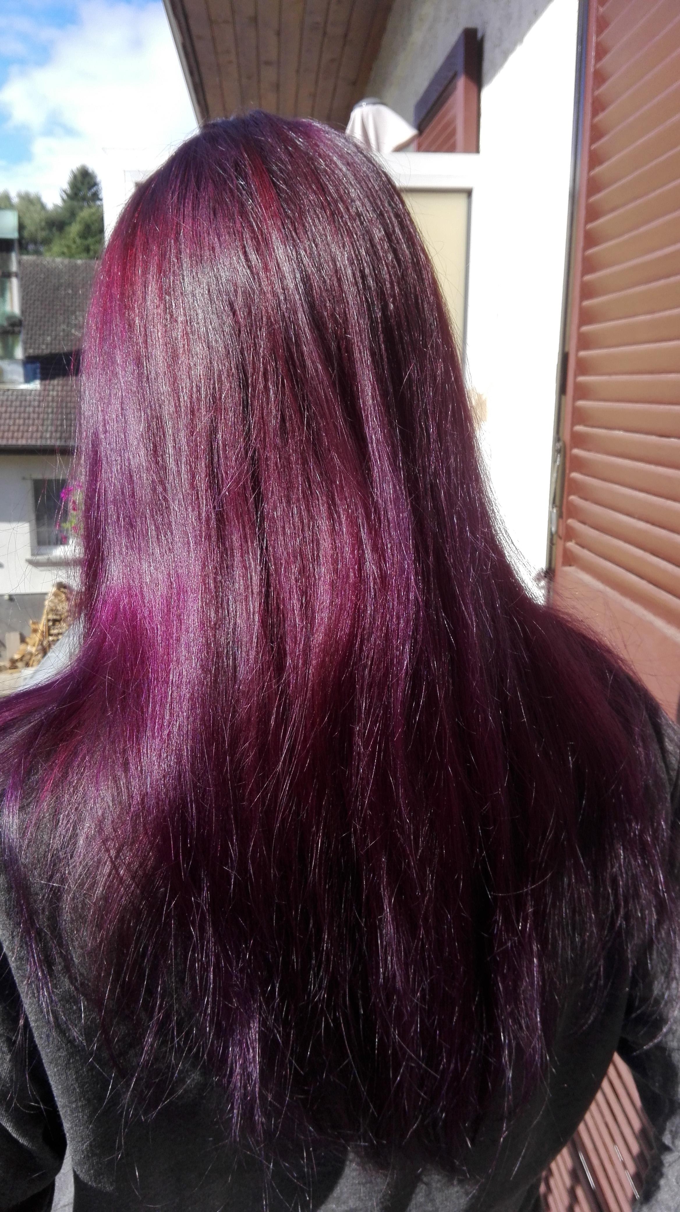 violet cheveux coloration