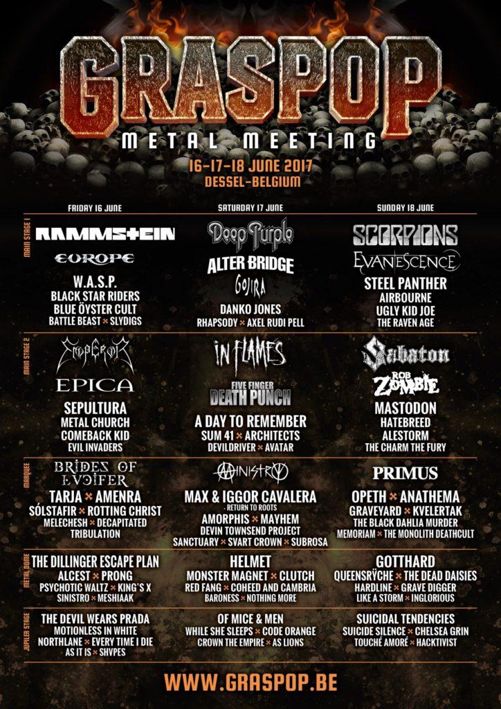 festival metal graspop 2017