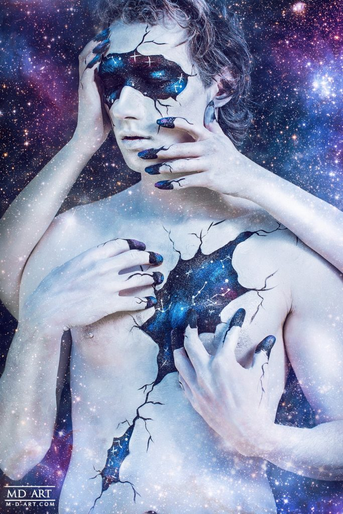 body paint galaxy