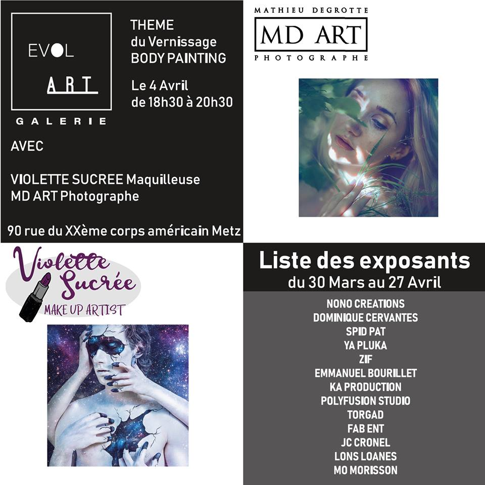 Vernissage evol'art face painting