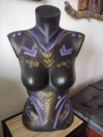 aérographe maquilleuse prochoir body paint