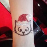 animatrice Noël maquilleuse tatouage paillettes