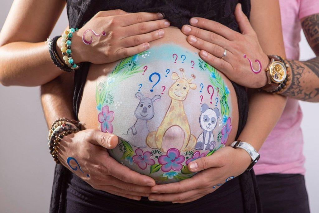 maquillage ventre peinture grossesse