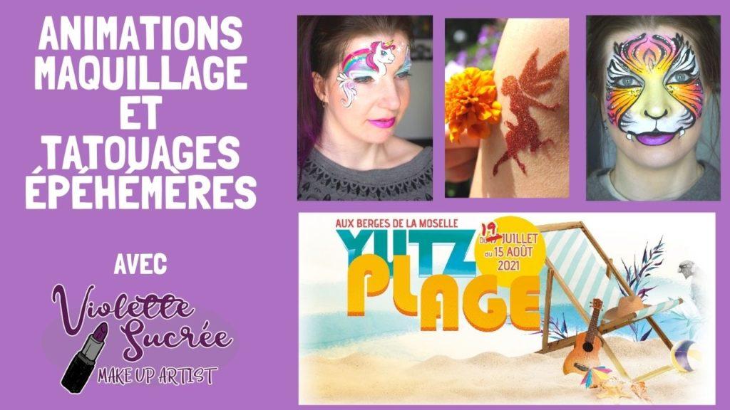 yutz plage maquillage enfant animations